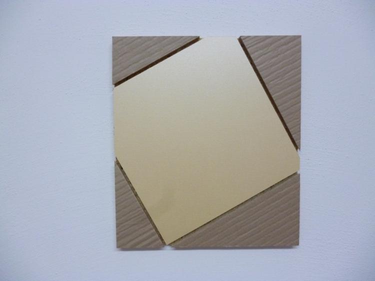 Werner Rückemann, Relief, Holz u. Karton, 2014, Atelier