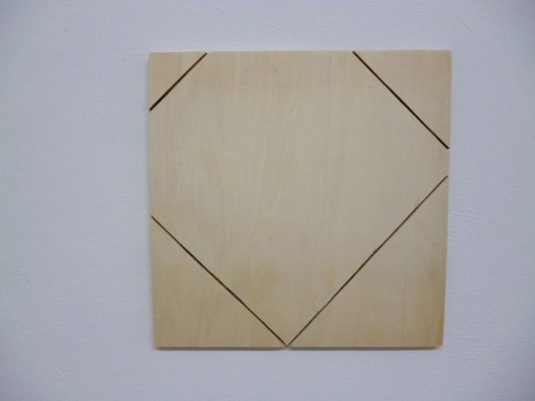 Werner Rückemann, Relief, Holz, 2013, Atelier
