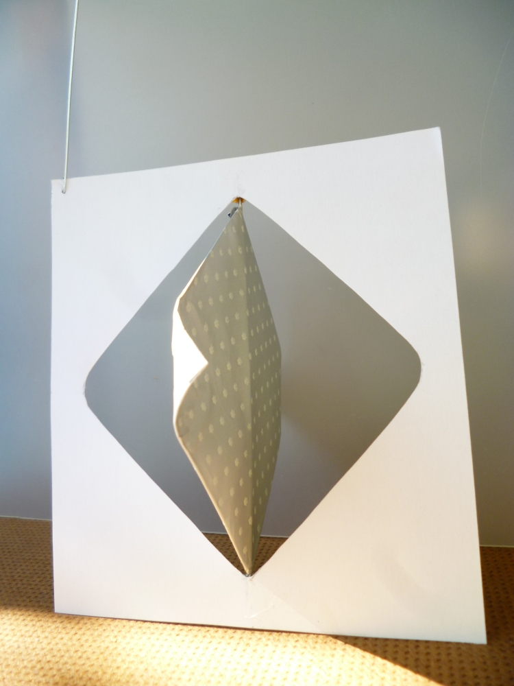 Werner Rückemann, Modell, Metall u. Karton, 2017, Atelier