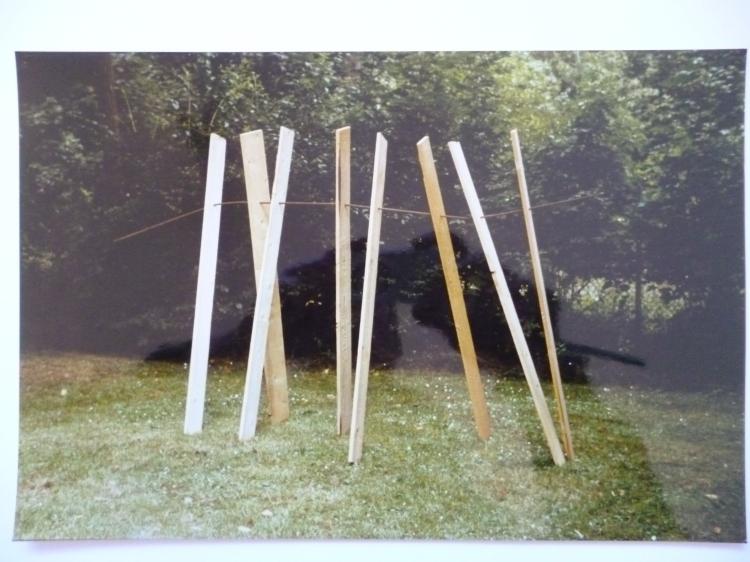 Werner Rückemann, Skulptur, Holz u. Metall, 1988, Bad Nauheim