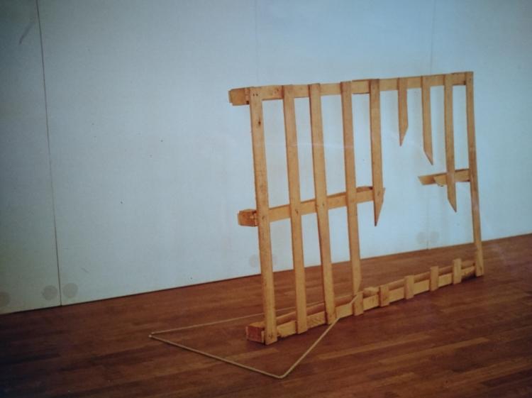 Werner Rückemann, o.T. (untitled), Holz, Stadthalle Detmold, Dialoge, 1988
