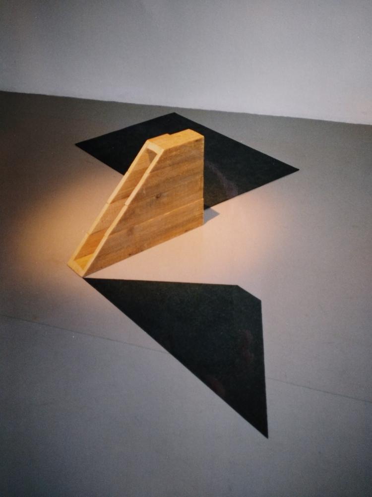 Werner Rückemann, o.T. (untitled), Holz, Türpappe, Kunstverein Unna, 1995