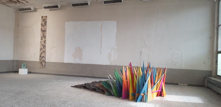 Wabenkarton, Holz, Farbe, Vielfalt, Dülmen, St Barbara Kaserne, 2021